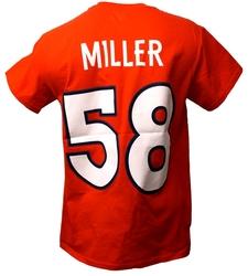 DENVER BRONCOS -  VON MILLER #58 T-SHIRT - ORANGE