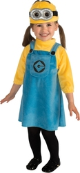 DESPICABLE ME -  FEMALE MINION COSTUME (INFANT & TODDLER)