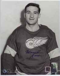 DETROIT RED WINGS -  AUTOGRAPHED MARCEL BONIN #18 PHOTO (8 X 10)