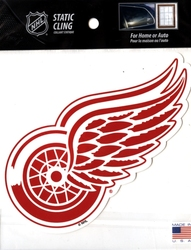 DETROIT RED WINGS -  REMOVABLE AND REUSABLE STATIC CLING