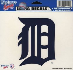 DETROIT TIGERS -  DECAL 5X6 REMOVABLE AND REUSABLE