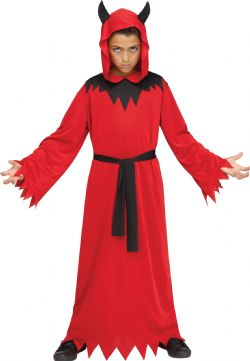 DEVIL ROBE COSTUME (CHILD - MEDIUM 8-10)