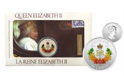 DIAMOND JUBILEE -  THE ROYAL CYPHER - PHILATELIC NUMISMATIC COVER -  2012 CANADIAN COINS