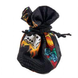 DICE BAG -  DICE BAG WITH DOUBLE PATTERN (MEDIUM)