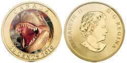 DINOSAURS EXHIBIT -  DASPLETOSAURUS TOROSUS -  2010 CANADIAN COINS 01