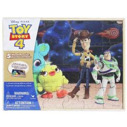 DISNEY -  TOY STORY 4 - 5 WOOD PUZZLES (24, 4X8 PIECES)