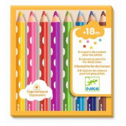DJECO -  8 COLOURING PENCILS FOR LITTLE ONES