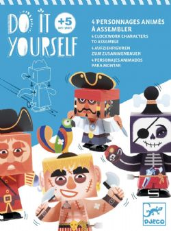 DO IT YOURSELF -  À L'ABORDAGE! (MULTILINGUAL) -  4 CLOCKWORK CHARACTERS TO ASSEMBLE