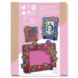 DO IT YOURSELF -  FAIRY (MULTILINGUAL) -  3 MOSAIC PHOTO FRAME TO DECORATE