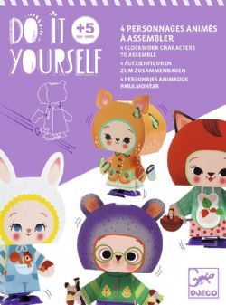 DO IT YOURSELF -  MIGNONS DE LA FORÊT (MULTILINGUAL) -  4 CLOCKWORK CHARACTERS TO ASSEMBLE