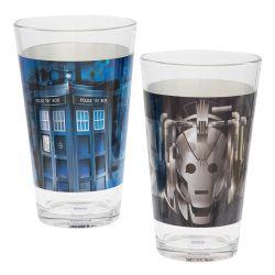 DOCTOR WHO -  SET OF 2 GLASSES (16 OZ.)