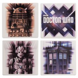 DOCTOR WHO -  SET OF 4 CERAMIC COASTERS