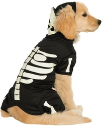 DOG COSTUME -  BONES - GLOW IN THE DARK COSTUME (DOG)
