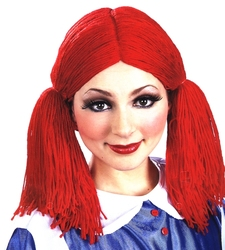 DOLL -  DOLL WIG - RED