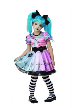 DOLL -  LITTLE BLUE SKELLY COSTUME (CHILD)