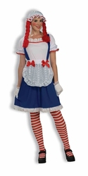DOLL -  RAG DOLL COSTUME (ADULT - ONE SIZE)