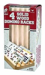 DOMINOES -  DOMINO RACKS (4)