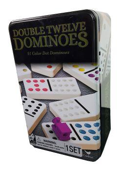 DOMINOES -  DOUBLE 12 COULEURS (BILINGUAL)
