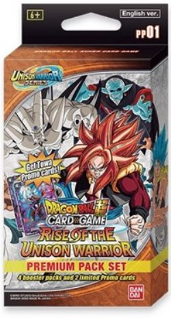 DRAGON BALL SUPER CARD GAME -  PREMIUM PACK -  UNISON WARRIORS PP01