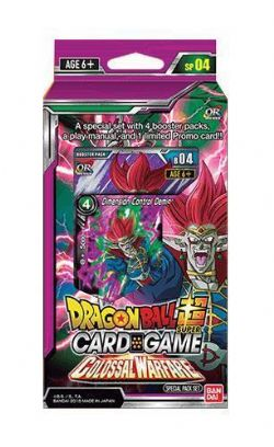 DRAGON BALL SUPER -  COLOSSAL WARFARE SPECIAL PACK SET (4P12 + 1) -  OVER REALM SP04