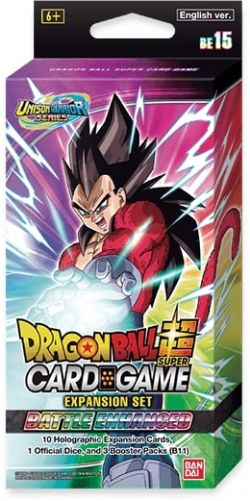 DRAGON BALL SUPER -  EXPANSION SET #15 - BATTLE ENHANCED (3P12 + 10 CARDS) -  UNISON WARRIOR