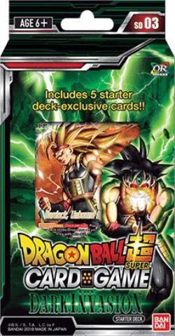DRAGON BALL SUPER -  THE DARK INVASION STARTER DECK (ENGLISH) -  CROSS WORLDS SD03