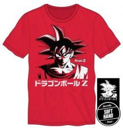 DRAGON BALL Z -  GOKU HEADSHOT MEN'S - RED T-SHIRT -  DRAGON BALL Z