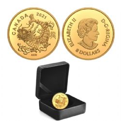 DRAGON OF THE CHINESE NEW YEAR (IN GOLD) -  TRIUMPHANT DRAGON -  2021 CANADIAN COINS 02