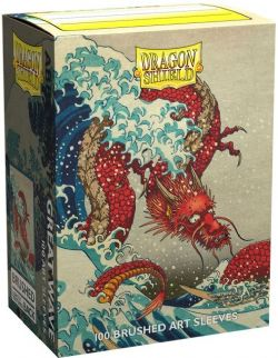 DRAGON SHIELD -  STANDARD SIZE SLEEVES - GREAT WAVE (100)