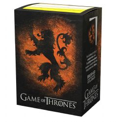 DRAGON SHIELD -  STANDARD SIZE SLEEVES - HOUSE LANNISTER (100)