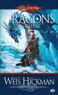 DRAGONLANCE -  DRAGONS DES CIEUX - LIVRE USAGÉ (V.F) -  CHRONIQUES PERDUES 02