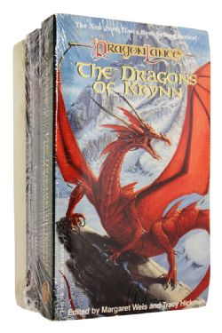 DRAGONLANCE -  VARIOUS BOOKS : THE DRAGONS OF KRYNN + THE DRAGONS AT WAR + THE DRAGONS OF CHAOS, USED (ENGLISH)