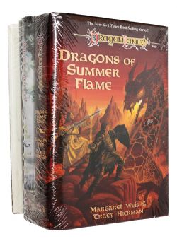 DRAGONLANCE -  VARIOUS HC BOOKS : THE DOOM BRIGADE + THE SOULFORGE + DRAGONS OF SUMMER FLAME, USED (ENGLISH)