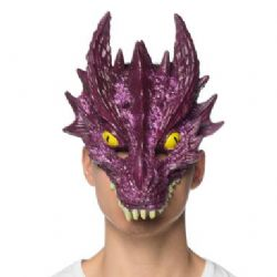 DRAGONS -  CRYSTAL DRAGON MASK - PURPLE - SUPERSOFT