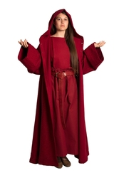DRESS -  BENEDICT DRESS - DARK RED (MEDIUM/LARGE)