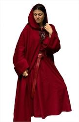 DRESS -  BENEDICT DRESS - DARK RED (X-SMALL/SMALL)