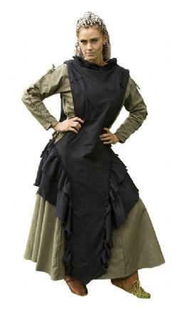DRESS -  RAVEN DRESS - BLACK (LARGE)