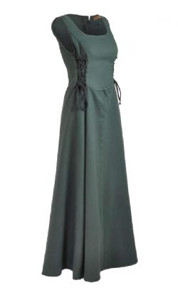 DRESS -  UMA DRESS CANVAS - GREEN (MEDIUM)