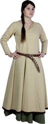 DRESS -  WOMAN BASIC MEDIEVAL DRESS - BEIGE (MEDIUM)