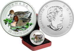 DUCKS OF CANADA -  PINTAIL -  2014 CANADIAN COINS 03
