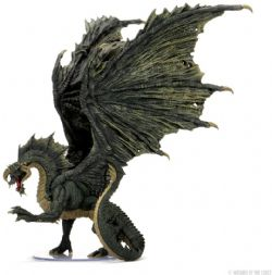 DUNGEONS & DRAGONS 5 -  ADULT BLACK DRAGON -  ICONS OF THE REALMS