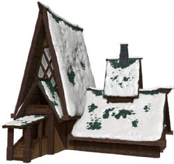 DUNGEONS & DRAGONS 5 -  ICEWIND DALE LODGE PAPERCRAFT -  ICONS OF THE REALMS