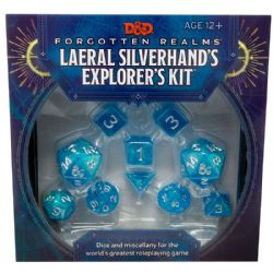 DUNGEONS & DRAGONS 5 -  LAERAL SILVERHAND'S EXPLORER'S KIT - DICE AND MISCELLANY -  FORGOTTEN REALMS