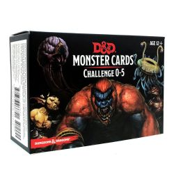 DUNGEONS & DRAGONS 5 -  MONSTERS CARDS - CHALLENGE 0-5 (ENGLISH)