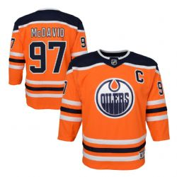 EDMONTON OILERS -  CONNOR MCDAVID #97 - REPLICA ORANGE JERSEY (YOUTH)