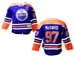 EDMONTON OILERS -  MCDAVID #97 - REPLICA BLUE JERSEY (YOUTH)