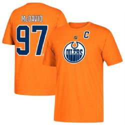 EDMONTON OILERS -  ORANGE CONNOR MCDAVID #97 T-SHIRT (YOUTH)