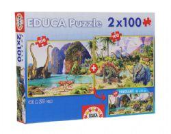 EDUCA -  DINO WORLD (2 X 100 PIECES)