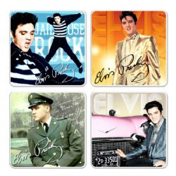 ELVIS -  SET OF 4 CERAMIC COASTERS