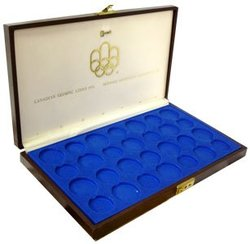EMPTY CASE FOR 28 COINS FROM THE MONTREAL OLYMPIC GAMES -  1976 CANADIAN COINS